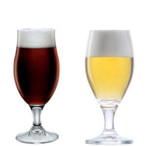 tulp of kelk bierglazen bedrukken