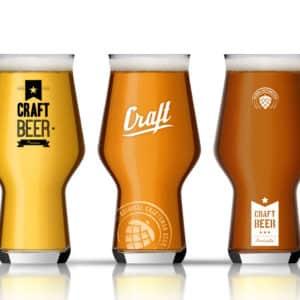 Bekijk de Craft beer glazen met eigen bedrukking van Beers & Brands