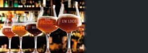 Bedruk uw bierglazen bij Beers & Brands