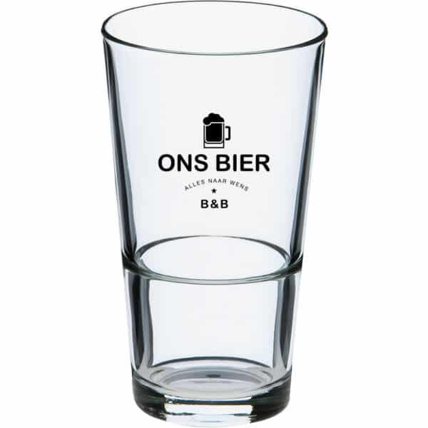 Amsterdam stapel bierglazen bedrukt u bij Beers & Brands