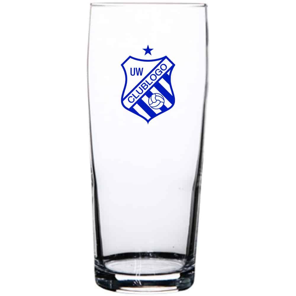 Bestel bij Beers & Brands bedrukte Fluitje bierglazen voor uw sportvereniging