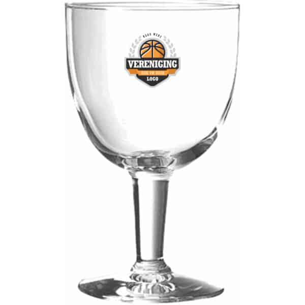 Laat uw clublogo bedrukken op het triomphe voetglas van Beers & Brands